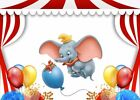 Carnival Circus Stage Dumbo Elephant Balloons Custom Background Backdrop 7x5ft