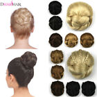 Lady's Braided Bun Cover Synthetic Clip on Chignon Donut Bride Makeup Hairpieces