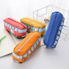 1pc Pen Bags Zipper School Bus Shaped High Capacity Pencil Pouch for Home Office