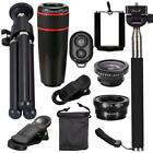 Universal 10 in1 Lens Phone Camera Cell Clip Optical #*elescope Kit 8X Zoom WT