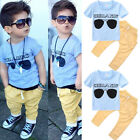 US Stock Summer Baby Boy Clothes T shirt Tops Pants Outfits Sets Clothing 1 6Y