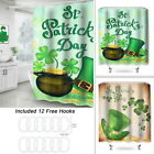 Spring Decor, Shamrock Leaves and Hat for St. Patrick's Day Shower Fabric