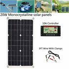 20W/50W Portable Solar Panel Power Bank System Kit USB Charger & Controller MX