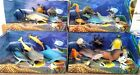 Ocean World Sea Life Animals Toy Shark Dolphin 8 Pack Figures Kids BOXED NEW