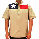 Texas Flag Patriotic Button Down Shirt God Bless America and the USA