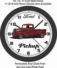 1935 FORD PICKUP TRUCK WALL CLOCK-FREE USA SHIP