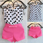 Baby Girl Kids Summer Toddler Outfits Clothes T-shirt Tops+Shorts Pants 2PCS Set