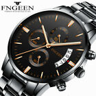 FNGEEN Fashion Quartz Steel Watch Mens Business Wrist Date Casual Office Watch image