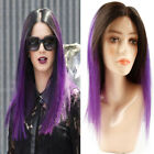 Ombre 1B/Purple Indian Human Hair Lace Wig 4*4 Lace Wig Cheap Price Frontal Lace