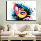 Modern On Canvas Unframed Woman Face Room Decor Oil Painting Huge Wall Art Z