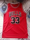 Scottie Pippen #33 Chicago Bulls Red Throwback Classic Basketball Jersey S XXL on eBay