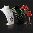 Mannequin Bust Jewelry Necklace Pendant Neck Model Stand Display Rack Holder LJ4
