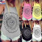 Women Summer Beach Vest Top Sleeveless Blouse Casual Tank Loose Tops Plus Size