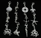 925 Sterling Silver Charms Sea Nautical Clip on Charm For European Bracelet