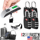 4xTSA Approve Combination Travel Luggage Suitcase Bag Lock /Hanging Scale Weight