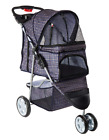 Pet Stroller For Small Dog Cat 3 Wheels Travel Jogger Folding Carrier Carriage