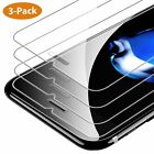 iPhone Screen Protector 3-Pack HD Tempered Glass for iPhone XR X XS MAX 8 7 Plus