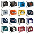 NFL Football Car Hood / Trunk Ambassador Flags Set of Two Double Sided $11.99 USD on eBay