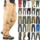 Men's Cargo Combat Pants Army Military Work Wear Outdoor Jogger Pockets Trousers