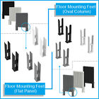 Floor Mounting Feet Support Legs Kits for Flat Oval Double Column Panel Radiator