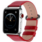 Fullmosa Leather Wrist Strap Apple Watch Band 38mm 42mm for iWatch Series 43/2/1