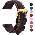 6 Colors Genuine Leather Watch Wrist Band Quick Release Strap 18/20/22/24mm Belt image
