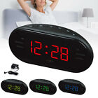 Modern LED Digital AM/FM Alarm Clock Buzzer Radio Snooze Sleep Timer Home Decor