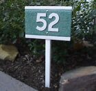 Custom Made Ceramic House Address Number Plaque with Yard Stake/ Two Shapes