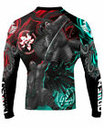 Raven Fightwear Men's East Meets West MMA BJJ Rash Guard Black