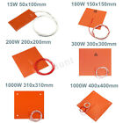 15W - 1000W 110V - 220V Silicone Heater Heated Bed Pad Heating Mat 3D Printer
