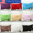 2 Pcs Cotton Cloth Pillow Cases Covers Bed Pillowcase Standard Queen Size image