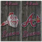 Atlanta Braves Cornhole Bag Toss Wrap Set on Ebay