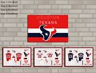 HD Print Oil Painting Home Decor on Canvas Houston Texans 4PCS/SET Unframed $24.0 USD on eBay