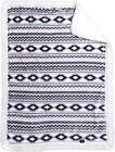 """Ultra Soft Plush Baby Blanket with Sherpa Lining 30""""x42"""" Playful Aztec Print"""
