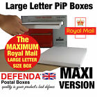 BIGGEST SIZE Royal Mail ALLOW LARGE LETTER PiP WHITE POSTAL POSTING BOXES Mailer