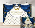 Royal Prince Baby Shower Theme Photography Props Golden Crown Rhombus Background