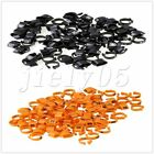 100Pcs 9.5mm Pigeon Leg Clip Rings Plastic for Birds/Hens/Pigeon/Ducks