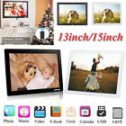 "13""/15"" Human Detection Digital Photo Frame Music Movie Player Remote Controller"