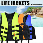 Adults Kids Life Jacket Swimming Fishing Floating Buoyancy Aids Vest w/Whistle