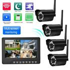 4CH 2.4GHz Wireless HD Monitor Camera IR Night Vision Camera Security System Kit