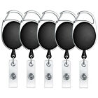5/10 PCS Retractable Reel Clip Badge Holder ID Card Key Ring Carabiner US Stock
