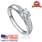 Women's Stainless Steel Cubic Zirconia CZ Solitaire Engagement Wedding Ring