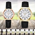 Fashion Men Women Leather Band Watch Business Quartz Analog Casual Wrist Watches