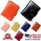 Womens and Girls Zip Around Coin Key Pocket ID Purse Waxed Leather Wallet