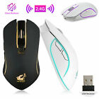 Wireless 2400DPI LED Rechargeable Silent Mouse Mice & USB Receiver For PC Laptop