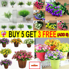 28heads Outdoor Flower Fake False Plants Grass Artificial Garden Daisys Decor ^c
