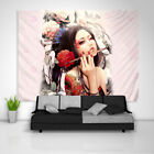 Tattoo Girl Tapestry Art Wall Hanging Sofa Table Bed Cover Home Decor