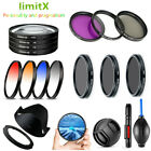 Bundle Kit Filter UV CPL ND FLD Graduated Colour Close up / Lens hood for Canon