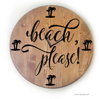Oversized Wall Clock - Coastal Decor - Beach Please!