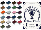 100% Genuine SILVER CUP Cue Chalk VARIOUS COLOURS 2 / 5 / 12 Cubes £5.49 GBP on eBay